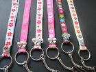 Lanyard flower design with gem various colours ID mobile neck strap.