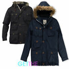 Boys Brave Soul 'Cobra' Parka Hooded School Jacket Coat Kids Black Navy Jacket