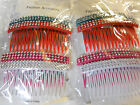 8pcs Plastic Hair Side Comb With Teeth Comb Hair Pin Clip for women. image