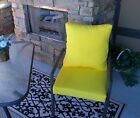 Yellow Solid Cushion & Pillow Set for Patio Dining, Choose Size
