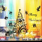 Large Merry Christmas Tree Gift Box Present Angel Shop Window Wall Art Sticker