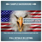 Rear Window Truck Graphic Decal - US American Flag Eagle USA - 3 Sizes