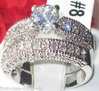 Size 5 6 7 J L N 2PC Engagement Ring WEDDING SET Stainless Steel LTK1318E