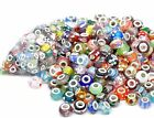 MIXED LOTS European LAMPWORK GLASS BEADS For Charm Bracelets