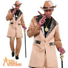 Playa Pimp Costume 70s Suit Mens Fancy Dress 1970s Outfit
