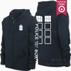 Hot!Cosplay Doctor Who Tardis Costume dark blue Casual zipper hoodies jackets