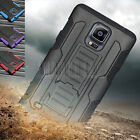 Heavy Duty Hybrid SHOCKPROOF ARMOR Hard Case Cover Fr Samsung Galaxy Note 4 N910