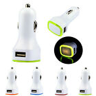 New Universal Double USB Port Car Charger LED Adapter For Cellphone Tide
