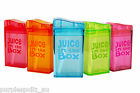 JUICE IN THE BOX Reusable Drink Container Fruitbox 5 COLOURS BPA FREE