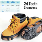 Ice Snow Grip 10/24T Spikes Cleats Crampon AntiSlip Traction Walk Climbing Shoes
