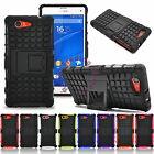 Hybrid Hard Case Rugged Grip Armor Cover Stand For Sony Xperia Z3 Compact Mini