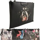 Ladies Leather Style Designer Inspired Print Clutch Bag Evening Handbag K090