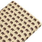 FQ ALL OVER ELEPHANT CARTOON RETRO PRINT Cotton Fabric Dress Quilting Craft VA61