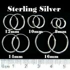Sterling Silver Hoop Sleepers Tiny 8mm,10mm,12mm,14mm,16mm,25mm ,40mm SP-90