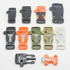 Survival Side Release Whistle Flint Buckles for 550 Paracord Bracelets Gear Kits