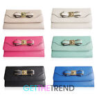 Ladies LYDC Flapover Large Wallet Womens Bow Flap Purse Clutch Bag Gift Box
