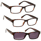 2 x Reading Glasses 1 x Sun Readers 3 Pack Brown Tortoiseshell UVRSR3PK012