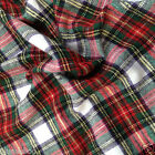 "Dress Stewart Brushed 100 % cotton tartan fabric per fq //half metre/Mt 58 ""wide"