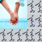 1XRomantic Design Temporary Tattoo Paper Sticker Waterpro of Body Art 5 Style WS