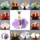 Different Stone Hexagon Pendulum Stone Silver/Gold Plated Charms Pendant Jewelry