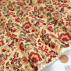 per 1/2 metre/FQ Magical Garden TAN colour dressmaking/craft fabric 100% COTTON