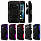 3IN1 RUGGED CASE & BELT CLIP HOLSTER FOR ALCATEL ONE TOUCH EVOLVE 2 / 4037T