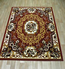 TRADITIONAL RUGS RED BEIGE BROWN FLOWERED MODERN RUNNERS SMALL LARGE LIVING ROOM