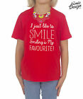 Children's I Just Like To Smile Smiling's My Favourite Christmas T-shirt Kids