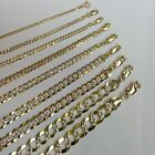 "1.5-9.5MM14K SOLID YELLOW GOLD D/C CUBAN LINK WOMEN/MEN'S NECKLACE CHAIN 16""-30"""