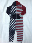 BOYS STARS AND STRIPES ALL IN PYJAMAS ONESIE COTTON AGE 6 - 16 RRP £20