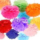 "Tissue Paper Pom Poms Flowers Balls For Wedding Party Decor 6"" 10"" 12"" 14"""