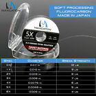 50M 1X 2X 3X 4X 5X 6X Japanese Fluorocarbon Fly Fishing Tippet Material Clear