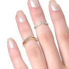Funky Sterling Silver Chevron Midi Mid Middle Knuckle Plain Ring All Sizes 1-11