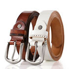 Women Top Genuine Leather Casual Fashion Single Pin Buckle Branded Waist Belt