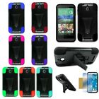 For HTC Desire 510 Hybrid Hard T-Stand Dual Armor Case Cover+Screen Guard Colors