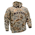 Kings snow camo hunting  King's Distressed Applique  Hoodie desert shadow mens