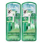 TropiClean Fresh Breath Dog Oral Care Kit Remove Tooth Plaque & Attack Tartar