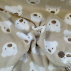 "PER METRE/ FAT QUARTER super soft cuddle fleece beige teddies  60 "" wide"