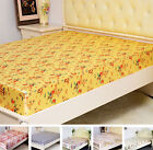3 pcs 100% Silk Fitted Sheet Pillowcases Set Printed Silk Sheets  Full Queen