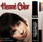 Henne Colour Natural Henna Hair Mascara - Black, Brown, Auburn, Copper, Chestnut