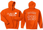 JUST RIDE MOTOCROSS ORANGE HOODIE SWEAT SHIRT MX RACE DIRT BIKE NUMBER PLATE KTM