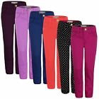 GIRLS COLOUR JEANS SKINNY TROUSERS KIDS STRETCHY SLIM DENIM PANTS 3-14 YEARS