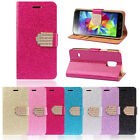 TIDE Luxury Bling Crystals Glitter Wallet Flip Leather Case Cover For LG G3