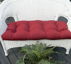 Cushion for Wicker Loveseat ~ Settee ~ Bench ~ In Outdoor Fabric ~ Solid Colors