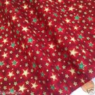 RED vintage star Christmas fabric 100 % cotton  per 1/2 mtr or per FQ