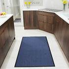 Cheap Practical Machine Washable Door Mats Small Blue Non Slip Entrance Rugs