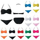 Sexy Halter Twisted Padded Push Up Bikini Beachwear Bathing Swimsuit 9 Colors