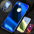 Front+Back Mirror Effect Tempered Glass Screen Protector+ Metal Frame Case Cover