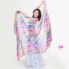 New Belly Dance Costume Gradient Color Silk Shawl Veil 250120cm 5 colours