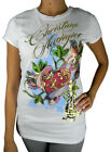 BRAND NEW CHRISTIAN AUDIGIER BY ED HARDY WOMEN'S PREMIUM SHIRT T-SHIRT